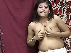 Rupali taking shalwar off rubbing her indian pussy